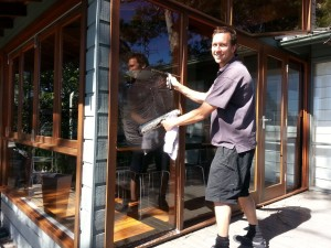 window washing fly screens northern beaches